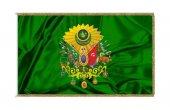 Osmanlı Arması Bayrağı Kenarlar Altın Renkli...