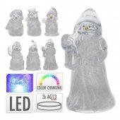 Kardan Adam Renk Değiştiren Led Işıklı 8,5 Cm