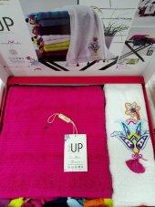 Style Up Havlu 50*90 100*150 Fuşya Beyaz