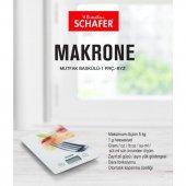 Schafer Makrone Dijital Mutfak Tartısı Beyaz