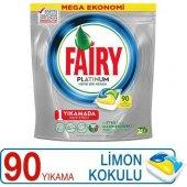Fairy Platinum Bulaşık Makinesi Deterjanı Kapsülü Limon Kokulu 90 Yıkama Tekli