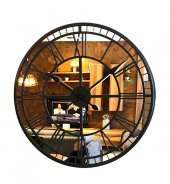 50 Cm Aynalı Füme Metal Lüks Duvar Saati