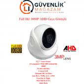 Ahd Full Hd 1080p 3.6mm Lens 6 Led Gece Görüşlü İç Mekan Güvenlik Kamerası