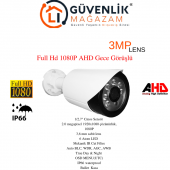 Ahd Full Hd 1080p 3.6 Mm Lens 6 Atom Led Gece Görüşlü Dış Mekan Güvenlik Kamerası