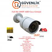 Ahd Full Hd 1080p 3.6mm Lens 36led Gece Görüşlü Dış Mekan Kamera