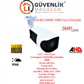Ahd Full Hd 1080p 3.6mm Lens 4 Led Gece Görüşlü Dış Mekan Metal Kasa Güvenlik Kamerası