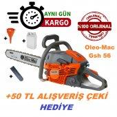 Oleo Mac Gsh 56 3.5 Hp Motorlu Testere Anında Kargo Hediyeli