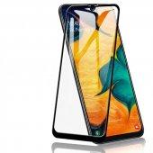 Samsung Galaxy M30s Kenarları Kırılmaya Dayanıklı Cam Ekran Koruyucu Siyah