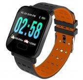 Olix A6 Smart Watch Akıllı Saat Suya Dayanıklı Nabız Ölçer Turuncu