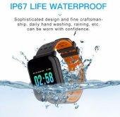 Olix A6 Smart Watch Akıllı Saat Suya Dayanıklı Nabız Ölçer Turuncu-3