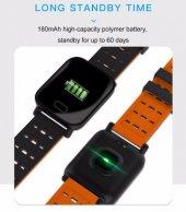 Olix A6 Smart Watch Akıllı Saat Suya Dayanıklı Nabız Ölçer Turuncu-5