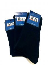 üçel Erkek Siyah Kalın Termal Çorap 3'lü