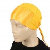 Sarı Saten Kadın Bone-2