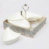 Telkari Gümüş Taşlı Porselen Kahvaltılık-2