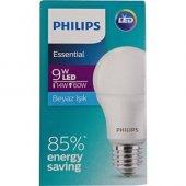Philips Essential 9 Watt LED Ampul (14w-60w)- Beyaz Işık-2