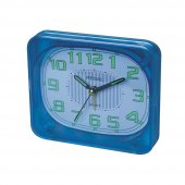 Ultima Regal Bip Alarm Şeffaf Masa Saati Mavi