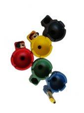 (100 Adet) Renkli Çakmaklıklı Kokusuz Dumansız Yanmaz Oto Küllük-3