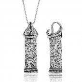 Gümüş Cevşen Bayan Kolye