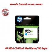 Hp 920xl Cd972ae Mavi Kartuş 700 Sayfa