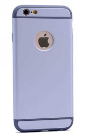Apple iPhone 6 Kılıf Zore 3 Parçalı Rubber Kapak-10