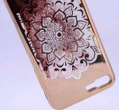 Apple iPhone 6 Kılıf Zore Lazer Çiçekli Sıvılı Silikon-4