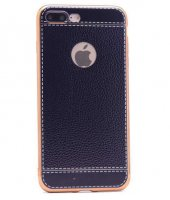 Apple iPhone 7 Plus Kılıf Zore Deri Lazer Kaplama Silikon-4
