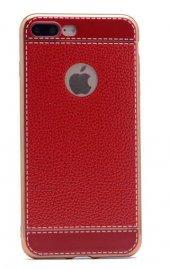 Apple iPhone 7 Plus Kılıf Zore Deri Lazer Kaplama Silikon-7