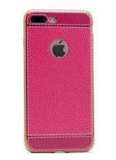 Apple iPhone 7 Plus Kılıf Zore Deri Lazer Kaplama Silikon-8