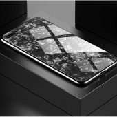 Apple iPhone 7 Plus Kılıf Zore Marbel Cam Silikon