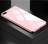 Apple iPhone 7 Plus Kılıf Zore Marbel Cam Silikon-4