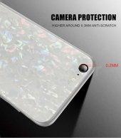 Apple iPhone 7 Plus Kılıf Zore Marbel Cam Silikon-8