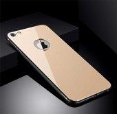 Apple iPhone 8 Kılıf Zore Düz Renkli Ebruli Cam Kapak