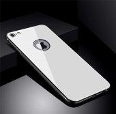 Apple iPhone 8 Kılıf Zore Düz Renkli Ebruli Cam Kapak-5