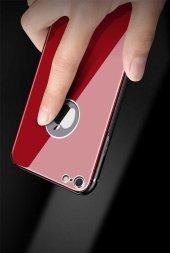 Apple iPhone 8 Kılıf Zore Düz Renkli Ebruli Cam Kapak-6