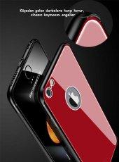 Apple iPhone 8 Kılıf Zore Düz Renkli Ebruli Cam Kapak-7