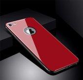 Apple iPhone 8 Kılıf Zore Düz Renkli Ebruli Cam Kapak-9