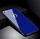 Apple iPhone 8 Kılıf Zore Düz Renkli Ebruli Cam Kapak-10