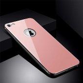 Apple iPhone 8 Kılıf Zore Düz Renkli Ebruli Cam Kapak-11