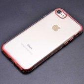 Apple iPhone 8 Kılıf Zore Tek Sıra Taşlı Silikon-2