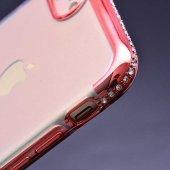 Apple iPhone 8 Kılıf Zore Tek Sıra Taşlı Silikon-3