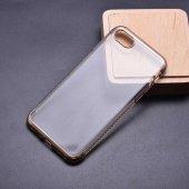 Apple iPhone 8 Kılıf Zore Tek Sıra Taşlı Silikon-6