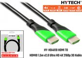 Hytech HY-HD4K10 HDMI TO HDMI 10m v2.0 Ultra HD 4K 2160p 3D Kablo
