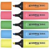 Edding Ed 344 Fosforlu Kalem Display Karışık Renkler 30 Lu D3099 (1 Paket 30 Adet)