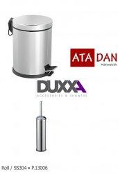 Duxxa Pedallı 3 Lt Çöp Kovası 304 Paslanmaz+duxxa Roll Wc Fırçalı