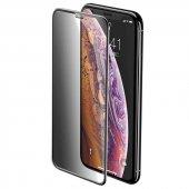 Apple iPhone XS Max 6.5 Zore Anti-Dust Privacy Tempered Ekran Koruyucu