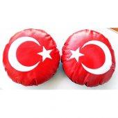 Modacar Türk Bayrağı Deri Boyun Yastığı 2 Adet 427950