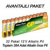 Gp Ultra Alkalin İnce Kalem Pil Aaa 384lü Set