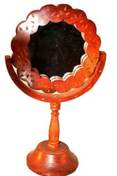 Ahşap El İşçiligi Masa Üstü Ayna Antika...