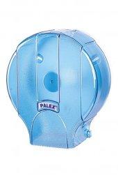 Palex Standart Jumbo Tuvalet Kağıdı Dispenseri Şeffaf Mavi