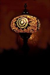 Mozaik Xxl Boy El İşçiliği Gece,köşe,komodin Lambası Abajur